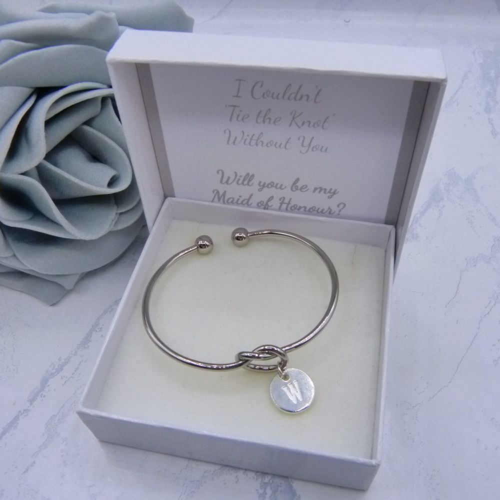 Initial Knot Bangle