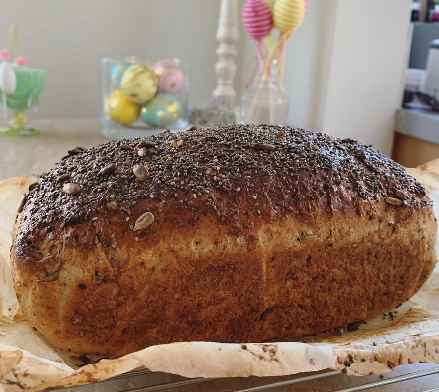 Homemade bread with chia seeds