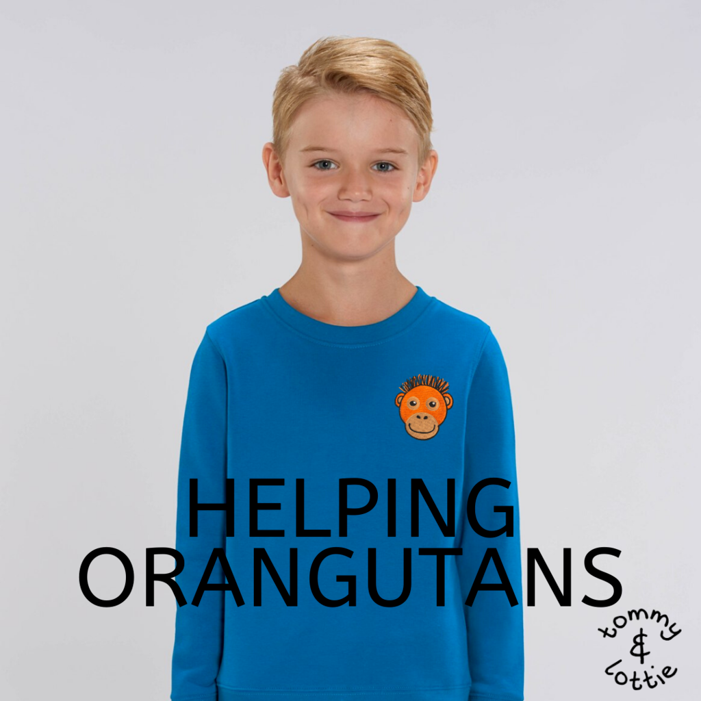helping orangutans - tommy & lottie