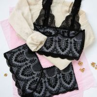 Black Lace Art Nouveau Set - Brighton Lace
