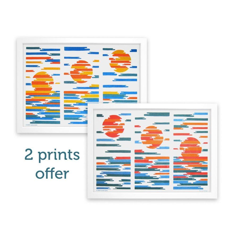 Sunrise/Sunset at Sea Print Bundle