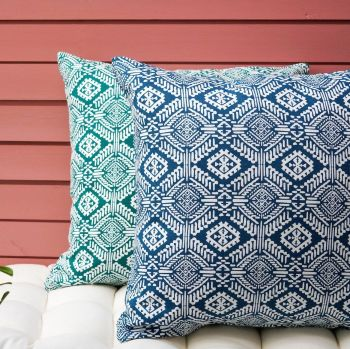 Cushion Cover in Blue - Omar - Tikauo