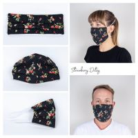 Strawberry Ditsy Face Mask - Seamstress By The Sea