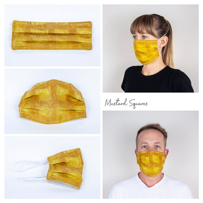 Mustard Squares Face Mask