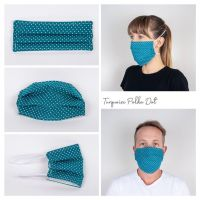 Turquoise Polka Dot Face Mask - Seamstress By The Sea