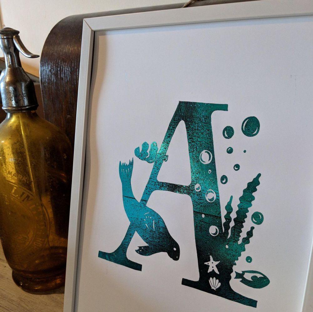 Foil Letters Print