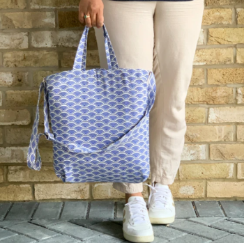 Tote Bag in Blue - Ikigai - Tikauo