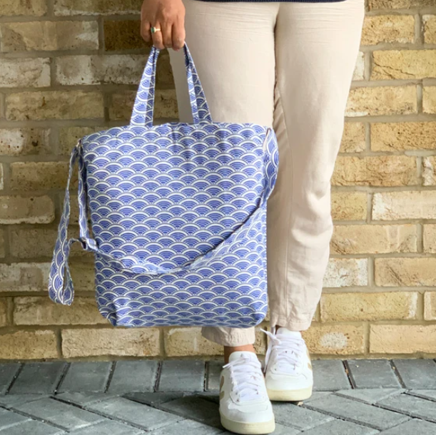 Tote Bag in Blue - Ikigai