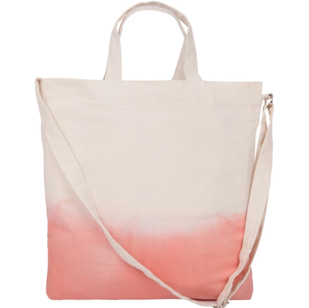 Tote Bag in Ombre - Pink, Green, Terracotta
