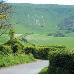 The Long Man at Wilmington Card - Tilia Publishing UK