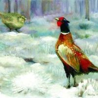 Pheasants in the Snow Card - Tilia Publishing UK