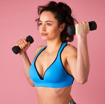 RubyMoon - Blue Sports Bra Leilani – Gym To Swim®