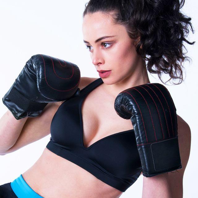 RubyMoon - Black Sports Bra Leilani – Gym To Swim®