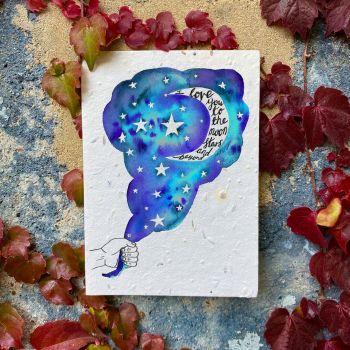 Love You To The Moon Card - Loop Loop