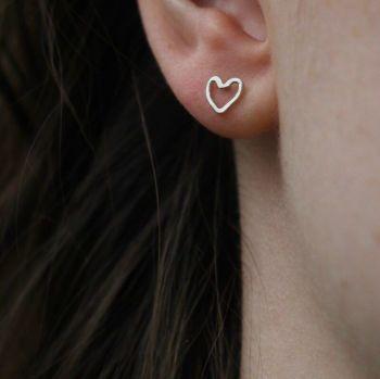 Tiny Heart Studs - AMC Jewellery