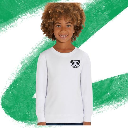 Panda Sweatshirt - White - Child's - Tommy & Lottie
