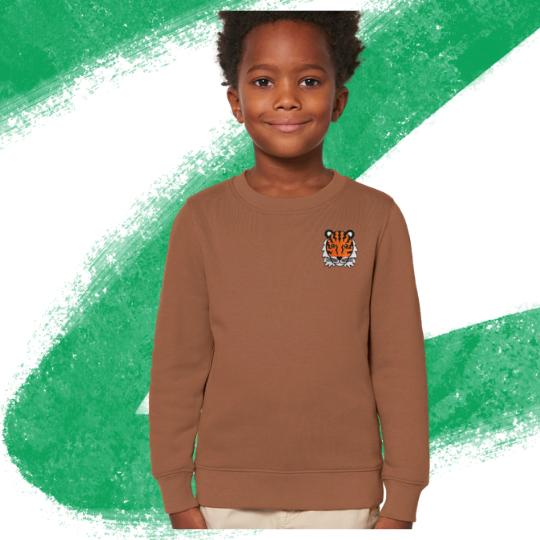 Tiger Sweatshirt - Brown - Child's - Tommy & Lottie