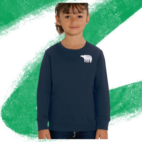 Polar Bear Sweatshirt - Blue - Child's - Tommy & Lottie