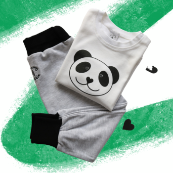 Panda – T Shirt and Leggings Baby Gift Set - Tommy & Lottie