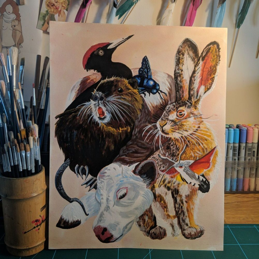 Animaux Des Normande Print by Phoebe Kirk