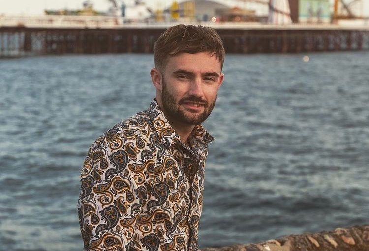 A picture of Charlie Jordan on Brighton Beach