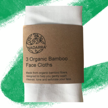 Organic Bamboo Face Cloths - 3 Pack - Nadarra Cosmetics