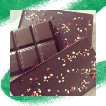 Raspberry And Almond  Vegan Chocolate - 3 x 100g Gift Box - Vege Love