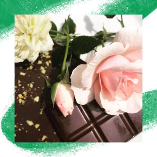 Pistachio And Rose Vegan Chocolate - 3 x 100g Gift Box - Vege Love