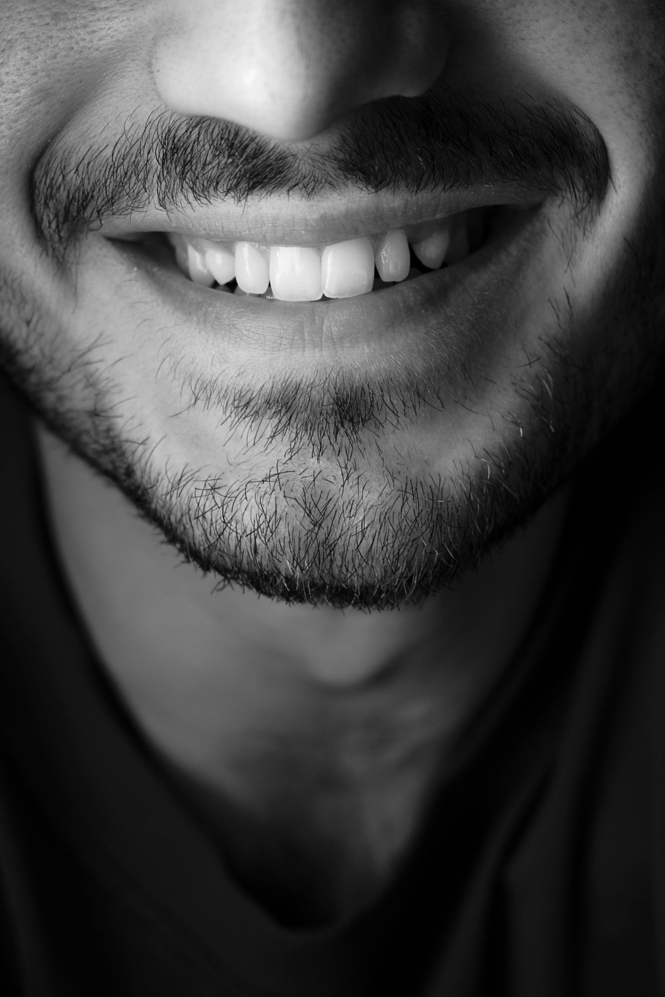 A set of bright white teeth