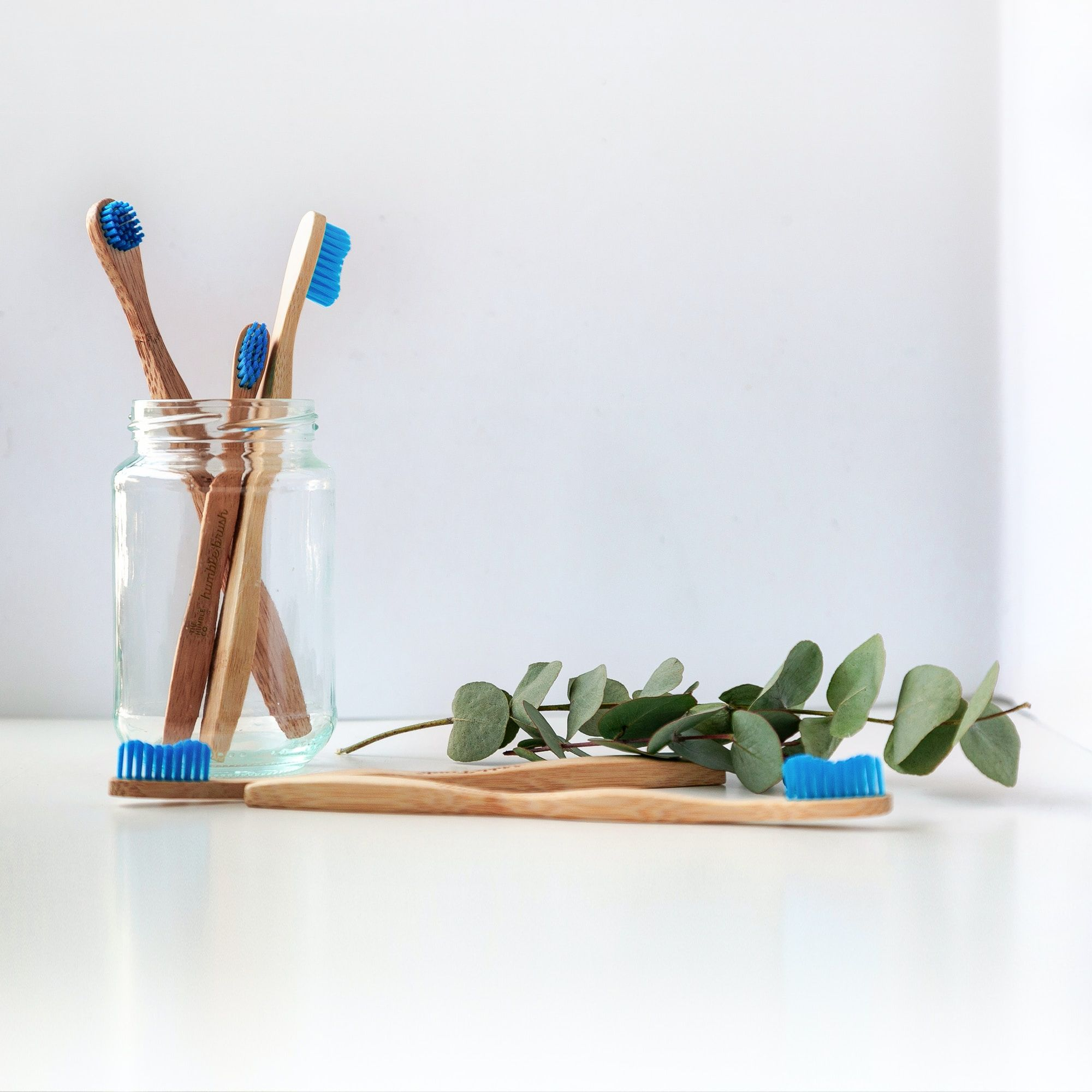 A set of 4 bamboo toothbrushes