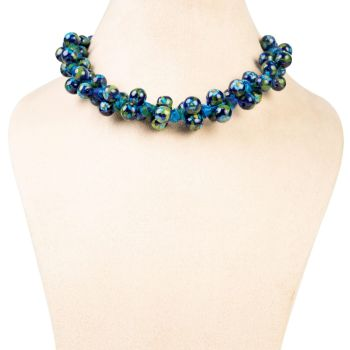 Bunch Necklace – Blue Green Turquoise - Ethiqana