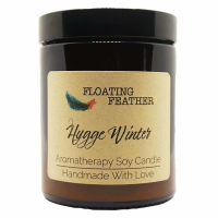 Candle Hygge Winter - Scented Soy Wax - Floating Feather