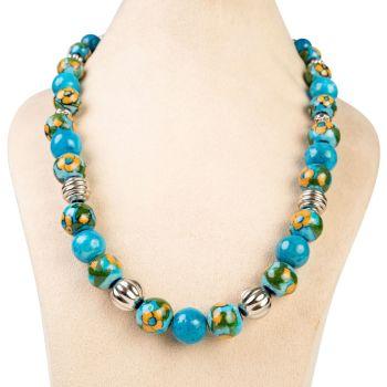 Full Bead Necklace – Turquoise - Ethiqana