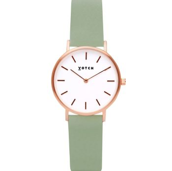 Rose Gold & Sage   Watch   Classic Petite Collection - VOTCH