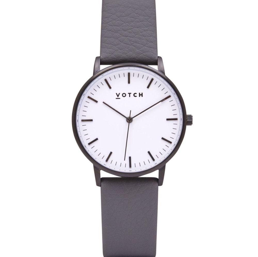Black & Slate Grey   Watch   Moment Collection - VOTCH