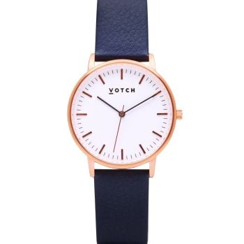Rose Gold & Navy   Watch   Moment Collection - VOTCH
