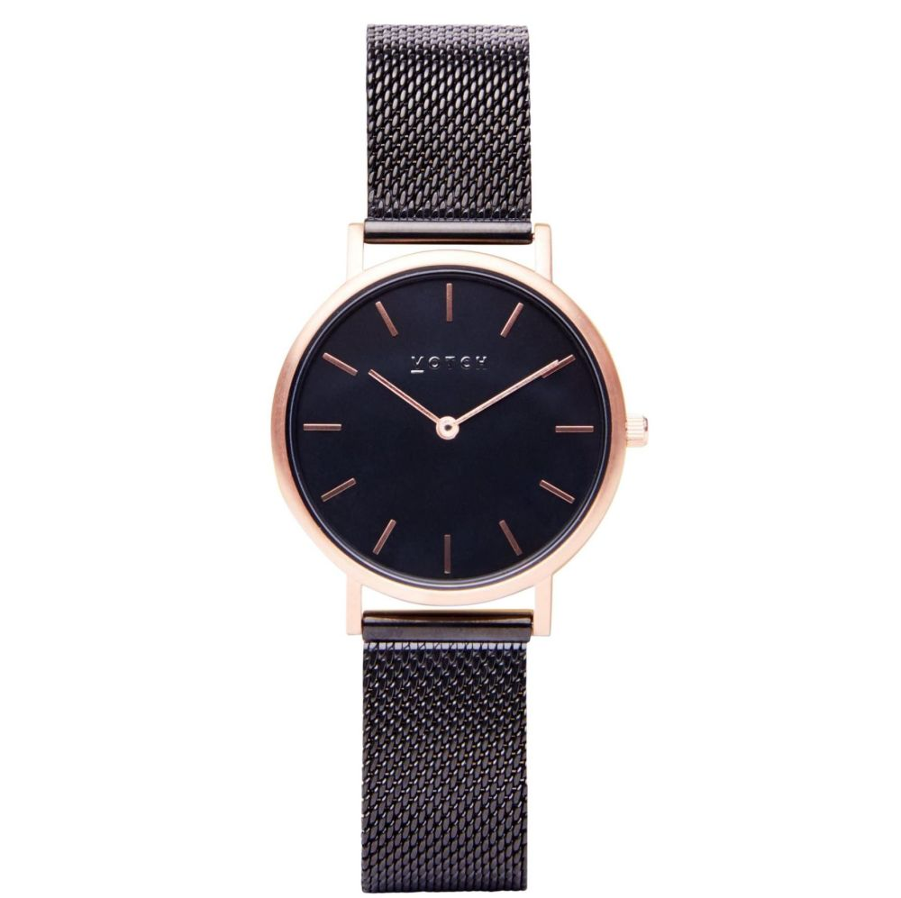 Rose Gold & Black with Black | Watch | Classic Collection Mesh Petite - VOT