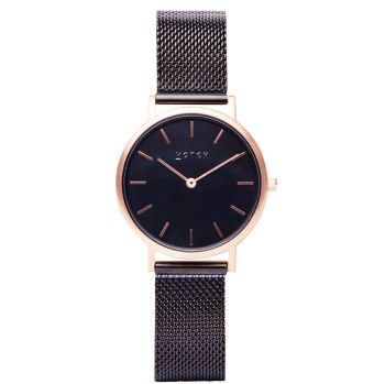 Rose Gold & Black with Black   Watch   Classic Collection Mesh Petite - VOTCH
