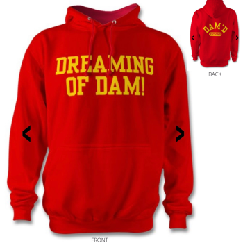DREAMING OF DAM Hoodie Red / ylw