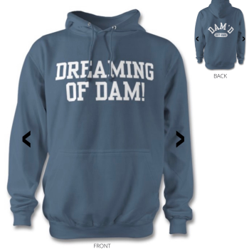 DREAMING OF DAM Hoodie Airforce Blue/wht