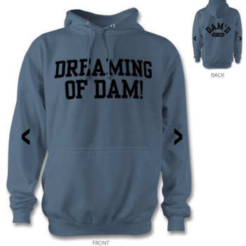 DREAMING OF DAM Hoodie Airforce Blue /blk