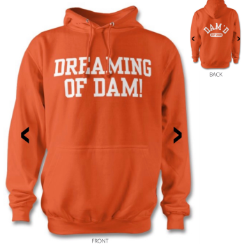 DREAMING OF DAM Hoodie Orange /wht