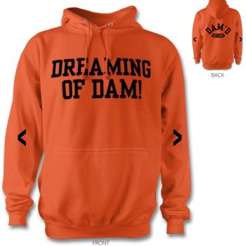 DREAMING OF DAM Hoodie Orange /blk