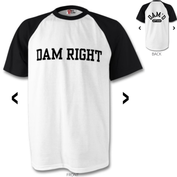 DAM RIGHT Baseball T-Shirt Blk