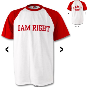 DAM RIGHT Baseball T-Shirt Red
