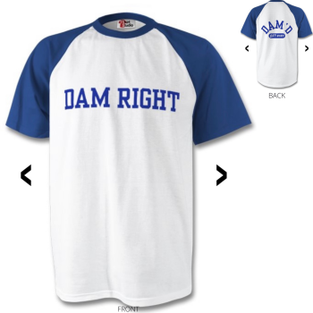 DAM RIGHT Baseball T-Shirt Blue