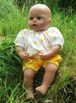 Star Print Top and Shorts Set for Boy Baby Dolls