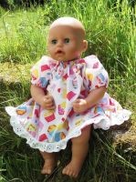 Summer Fayre Cupcakes Dress for Baby Dolls