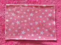 Pink Starry Night Fleece Blanket for Doll's Cots and Prams