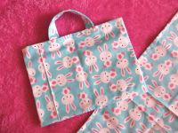 Bunnies Changing Bag and Mat for Baby Dolls